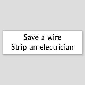 Save A Wire Sticker (Bumper)