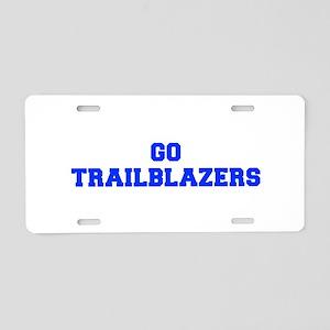 Trailblazers-Fre blue Aluminum License Plate