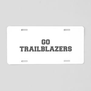 TRAILBLAZERS-Fre gray Aluminum License Plate