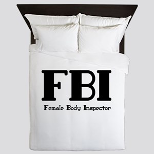 Female Body Inspector Queen Duvet
