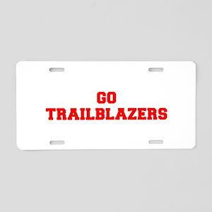 TRAILBLAZERS-Fre red Aluminum License Plate