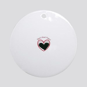 Keep Young Hearts Beating! Ornament (Round)