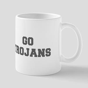 TROJANS-Fre gray Mugs