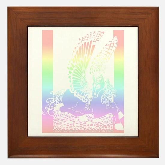 Pastel Diamond Pegasus Framed Tile
