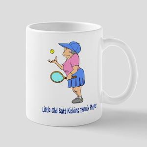 Butt Kicking Tennis Player Mug