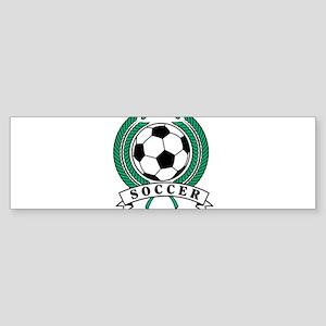 Classic Soccer Emblem Bumper Sticker
