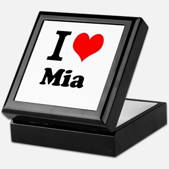 I Love Mia Keepsake Box