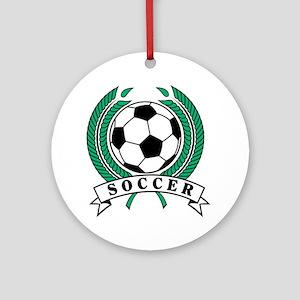 Classic Soccer Emblem Ornament (Round)