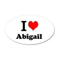 I Love Abigail Wall Decal