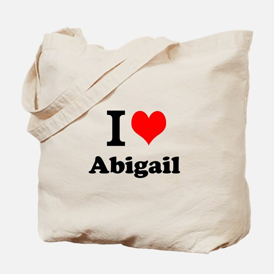 I Love Abigail Tote Bag