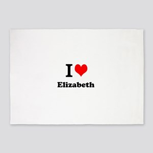 I Love Elizabeth 5'x7'Area Rug