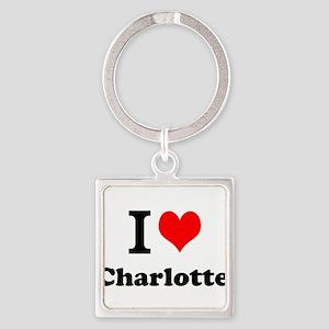 I Love Charlotte Keychains