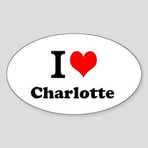 I Love Charlotte Sticker