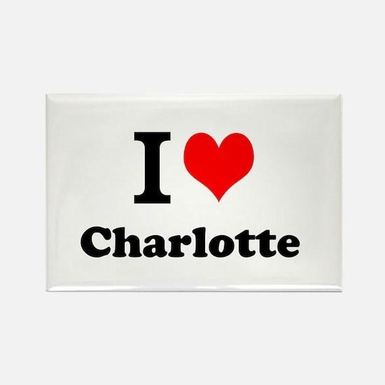 I Love Charlotte Magnets