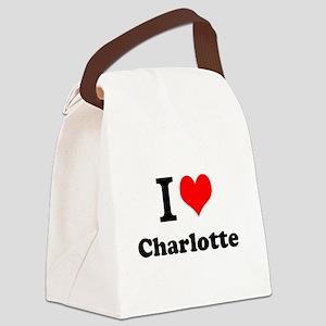 I Love Charlotte Canvas Lunch Bag
