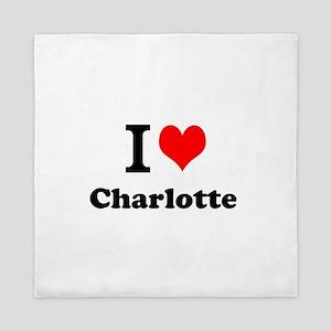 I Love Charlotte Queen Duvet