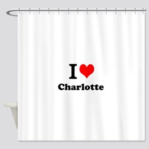 I Love Charlotte Shower Curtain