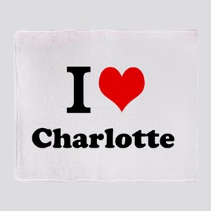 I Love Charlotte Throw Blanket