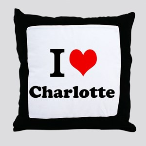 I Love Charlotte Throw Pillow