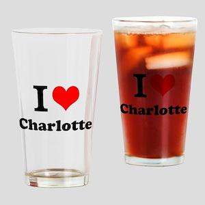 I Love Charlotte Drinking Glass