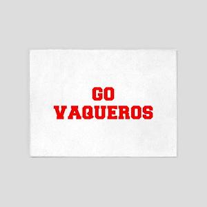 VAQUEROS-Fre red 5'x7'Area Rug