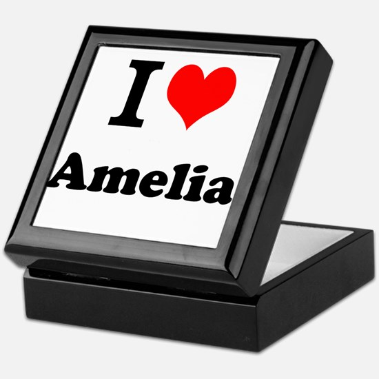 I Love Amelia Keepsake Box