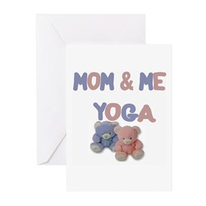 Baby yoga greeting cards cafepress m4hsunfo