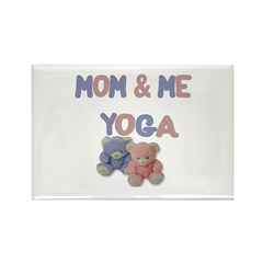 Mom & Me Yoga Rectangle Magnet