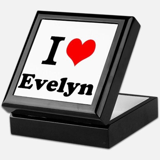 I Love Evelyn Keepsake Box