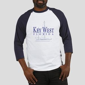 Key West Sailboat - Baseball Jersey