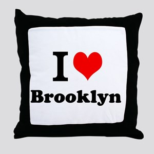 I Love Brooklyn Throw Pillow