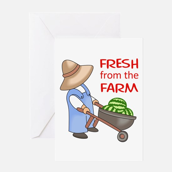 FRESH FROM THE FARM Greeting Cards