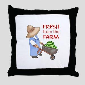 FRESH FROM THE FARM Throw Pillow