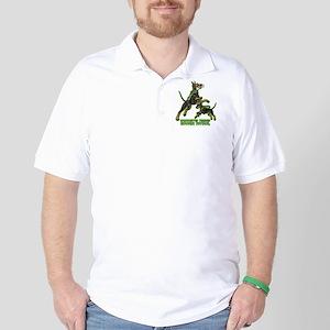 Manchester Terrier Zombie Patrol Golf Shirt