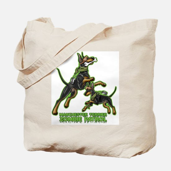 Manchester Terrier Zombie Patrol Tote Bag