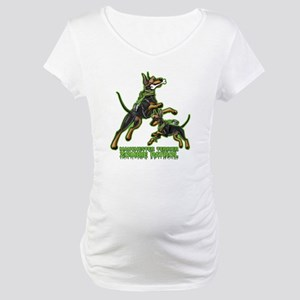 Manchester Terrier Zombie Patrol Maternity T-Shirt