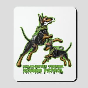 Manchester Terrier Zombie Patrol Mousepad