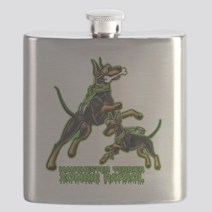 Manchester Terrier Zombie Patrol Flask