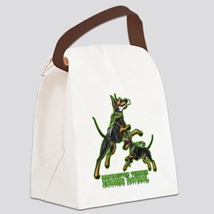 Manchester Terrier Zombie Patrol Canvas Lunch Bag