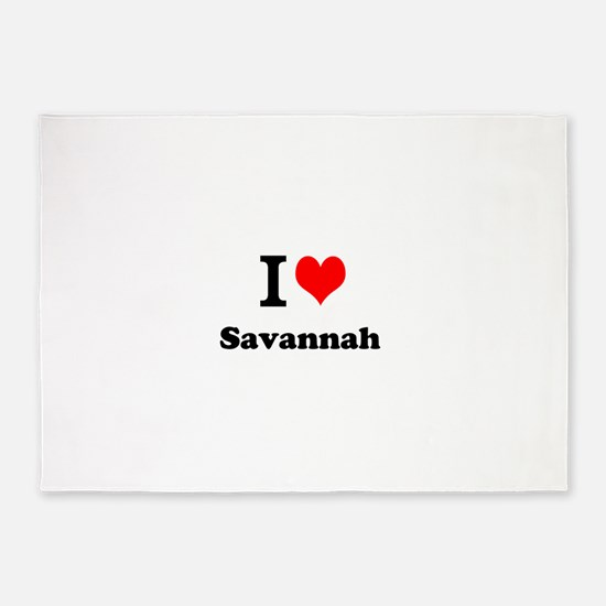 I Love Savannah 5'x7'Area Rug