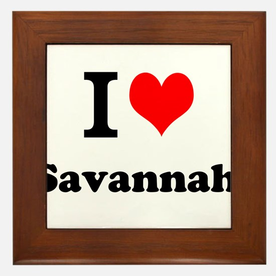 I Love Savannah Framed Tile