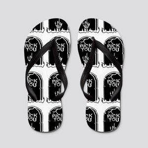 011859733dea tombstones graves f you mature Flip Flops