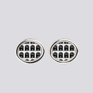 tombstones graves f you mature Oval Cufflinks