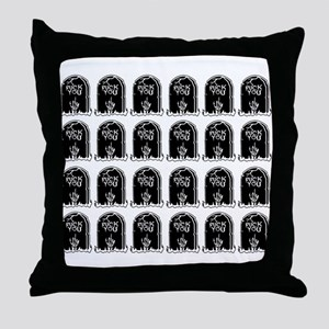 tombstones graves f you mature Throw Pillow
