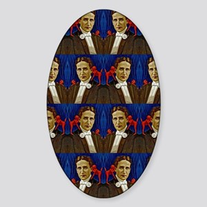 harry houdini devils red blue Sticker (Oval)
