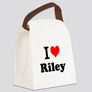 I Love Riley Canvas Lunch Bag