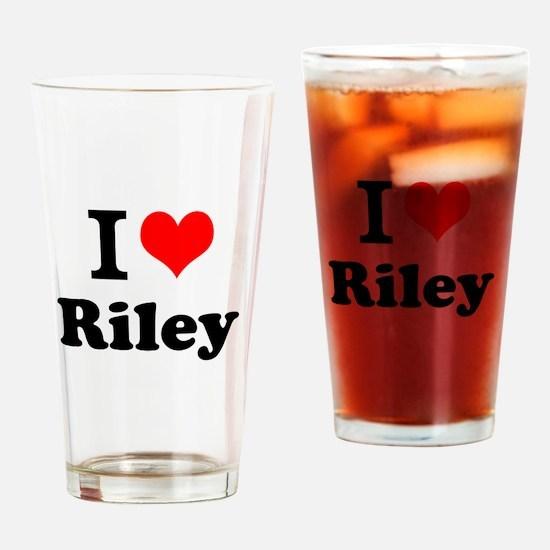 I Love Riley Drinking Glass