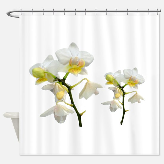 beautiful white orchid flowers. Shower Curtain