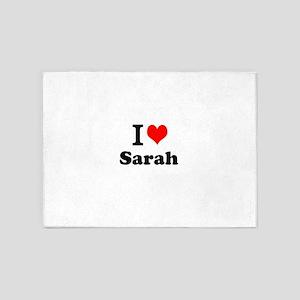 I Love Sarah 5'x7'Area Rug