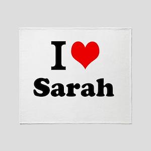 I Love Sarah Throw Blanket